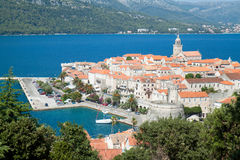 Korcula - panorama. Croatia,  Europe. Stock Image