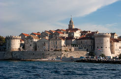 Korcula's fortress. This is a picutre of th Korcula's fortress feom sea point of view royalty free stock photography