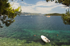 Korcula seaview Royalty Free Stock Images