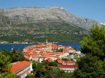 Korcula town. View of Town of Korcula in Croatia island Stock Photos