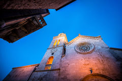 Korcula town cathedral Royalty Free Stock Images