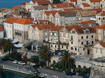 Korcula town in Croatia. Stock Images