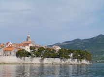 Korcula town in the Croatian Mediterranean Royalty Free Stock Photography