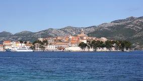 Korcula Town. Waterfront View of Korcula, Croatia Stock Photography