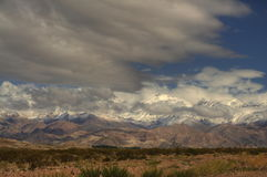 Kordilleren nahe Aconcagua Stockfotografie