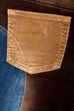 Kordsamt- und Jeansgewebebeschaffenheiten stockfotos