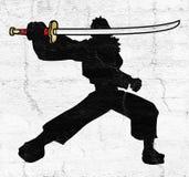 Kordzików samurajowie royalty ilustracja