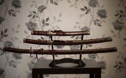 Kordzik samurajowie Obraz Stock