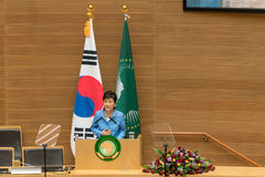 Korea's President visits African Union Commission Royalty Free Stock Photos