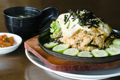 Koreańczycy fermentujący warzywo smażący ryż obraz stock
