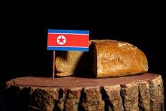 Koreańczyk Z Korei Północnej flaga na fiszorku z chlebem Obraz Royalty Free
