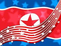 Koreańczyk Z Korei Północnej I My ochrony ryzyko Opowiadamy 3d ilustrację ilustracja wektor