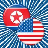 Koreańczyk Z Korei Północnej I usa konfliktu 3d Jądrowa ilustracja ilustracji