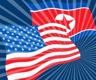Koreańczyk Z Korei Północnej I Usa ochrony dyplomaci 3d ilustracja ilustracja wektor
