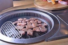 Koreańczyka BBQ grilla wołowiny chłodny plasterek obrazy royalty free