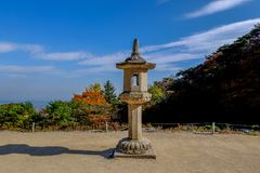 Koreańczyka kamienny lampion zdjęcia royalty free