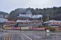 Koreańczyka stylowy restauracyjny zewnętrzny projekt obrazy royalty free