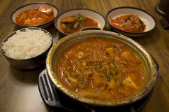 Koreańska karmowa kuchni kimchi restauracja Obrazy Stock