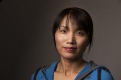 Koreańska kobieta w przypadkowym stylu fotografia stock