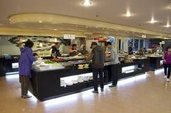 Koreańska kuchnia bufeta restauracja zdjęcie stock