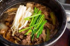 Koreańska kuchnia, puchar wołowiny polewka zdjęcie stock