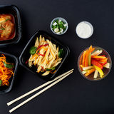 Koreańska kuchnia Set sałatki Fotografia Royalty Free