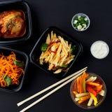 Koreańska kuchnia Set sałatki Zdjęcie Stock