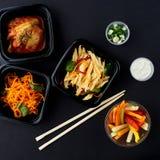 Koreańska kuchnia Set sałatki Zdjęcia Stock