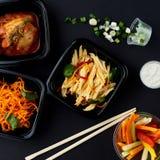 Koreańska kuchnia Set sałatki Zdjęcie Royalty Free