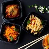 Koreańska kuchnia Set sałatki Obraz Stock