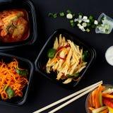 Koreańska kuchnia Set sałatki Fotografia Stock