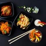Koreańska kuchnia Set sałatki Zdjęcia Royalty Free