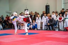Taekwondo rywalizacje między dziećmi Obraz Royalty Free