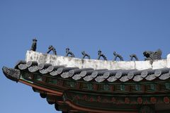 Koreański świątynia dach fotografia royalty free