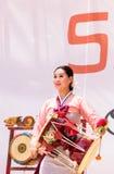 Koreański bębenu taniec wykonujący przy San Diego zoo safari parkiem Obraz Stock