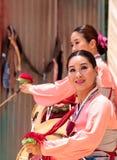 Koreański bębenu taniec wykonujący przy San Diego zoo safari parkiem Obrazy Royalty Free