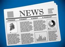 Koreański biznes i gospodarka na gazecie ilustracja wektor
