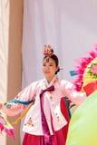 Koreański fan taniec wykonujący przy San Diego zoo safari parkiem Obraz Stock