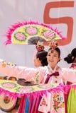 Koreański fan taniec wykonujący przy San Diego zoo safari parkiem Obrazy Stock