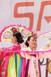Koreański fan taniec wykonujący przy San Diego zoo safari parkiem Fotografia Stock