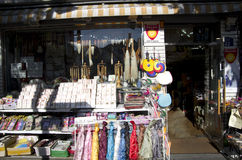 Koreański pamiątkarski sklepu hanbok hanji muśnięcie obrazy royalty free