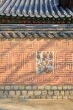 Koreański tradycyjny ściana wzór obraz stock