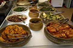Koreańskie bufet restauraci kuchnie fotografia royalty free