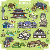 Korea attractions collection Royalty Free Stock Photos