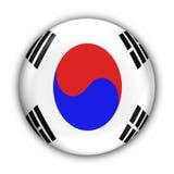 Korea bandery na południe ilustracja wektor