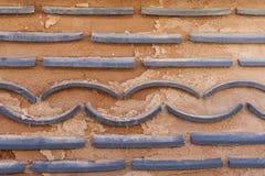Korea brick wall. Texture of traditional korea brick wall background Stock Photography