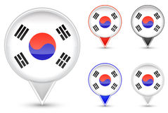 Korea buttons Royalty Free Stock Image
