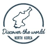 Korea, Democratic People`s Republic Of Map. Korea, Democratic People`s Republic Of Map Outline. Vintage Discover the World Rubber Stamp with Korea, Democratic Royalty Free Stock Images