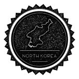 Korea, Democratic People`s Republic Of Map Label. Royalty Free Stock Photography