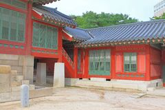 Korea Deoksugung slott Fotografering för Bildbyråer